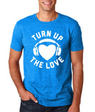 Turn Up The Love Music Lover Men T Shirts White-Gildan-Daataadirect.co.uk