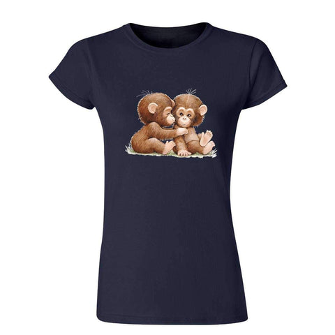 Two Chimpanzees 20201HD6 Womens T Shirt-Gildan-Daataadirect.co.uk