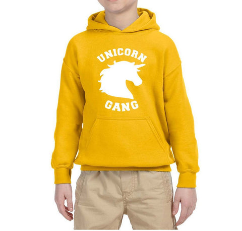 UNICORN Gang Kids Hoodies White-Gildan-Daataadirect.co.uk