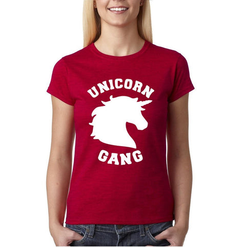 UNICORN Gang Women T Shirt White-Gildan-Daataadirect.co.uk