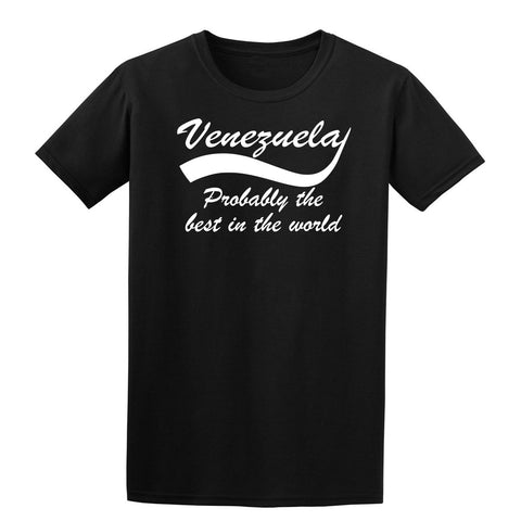 Venezuela probably the best country in the world Mens T Shirts White-Gildan-Daataadirect.co.uk