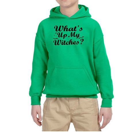 What's up my witches Kids Hoodies Black-Gildan-Daataadirect.co.uk