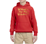 What's up my witches Kids Hoodies Gold-Gildan-Daataadirect.co.uk