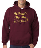 What's up my witches Mens Hoodies Gold-Gildan-Daataadirect.co.uk