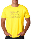 What's up my witches Mens T Shirts Gold-Gildan-Daataadirect.co.uk