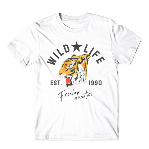 Wild Life T-Shirt Est.1990 Freedom Monster Unisex Tee Top