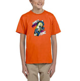 Wild Surf No Fear Kids T Shirt-Gildan-Daataadirect.co.uk