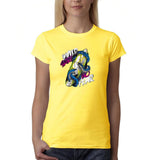 Wild Surf No Fear Womens T Shirt-Gildan-Daataadirect.co.uk