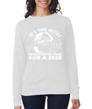 wonderful time for beer Womens SweatShirt White-ANVIL-Daataadirect.co.uk