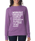WORKOUT CHECKLIST Womens Sweat Shirts White-ANVIL-Daataadirect.co.uk
