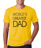 World Greatest DAD Black Mens T Shirt-Gildan-Daataadirect.co.uk