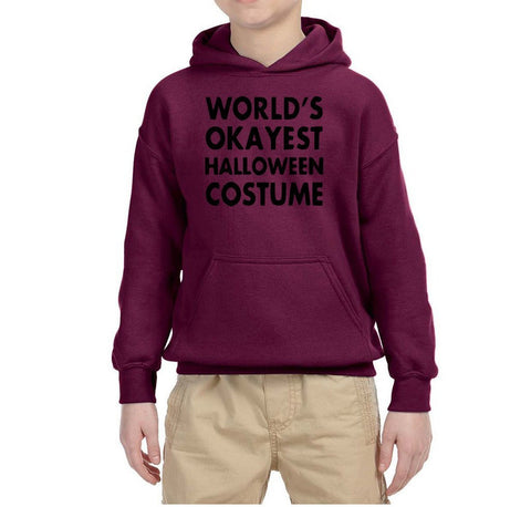 World's okayest halloween costume Kids Hoodies Black-Gildan-Daataadirect.co.uk