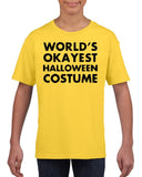 Worlds okayest halloween costume Kids T Shirt Black-Gildan-Daataadirect.co.uk
