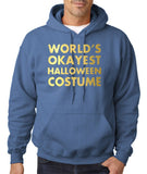 Worls's okayest halloween costume Mens Hoodies Gold-Gildan-Daataadirect.co.uk