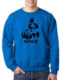WWF Panda Wrestling Mens Sweat Shirt Black-Gildan-Daataadirect.co.uk