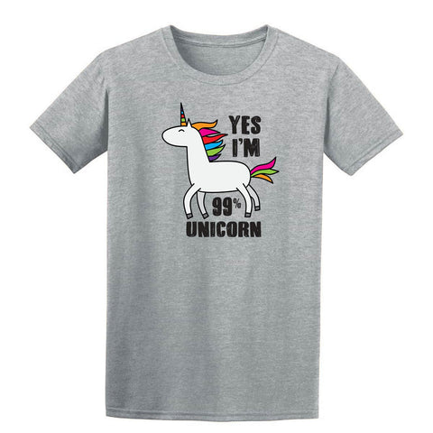 Yes I Am 99% Unicorn Kids T-Shirt-Gildan-Daataadirect.co.uk