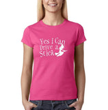 Yes I can drive a stick Womens T Shirts White-Gildan-Daataadirect.co.uk