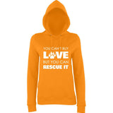 You Can't Buy Love Rescue It Women Hoodies White-AWD-Daataadirect.co.uk