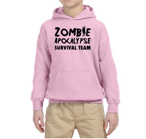 Zombie Apocalypse survival team Kids Hoodies Black-Gildan-Daataadirect.co.uk