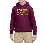 Zombie apocalypse survival team Kids Hoodies Gold-Gildan-Daataadirect.co.uk