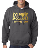 Zombie apocalypse survival team Mens Hoodies Gold-Gildan-Daataadirect.co.uk