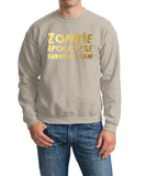 Zombie apocalypse survival team Mens SweatShirts Gold-Gildan-Daataadirect.co.uk