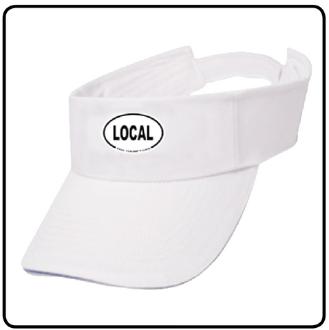 LOCAL TENNIS WHITES VISOR