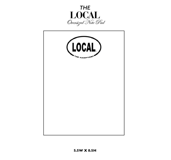 Oversized Local Note Pad