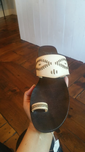 Blowfish cream spring sandal