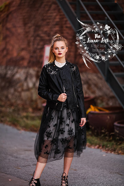 black holiday tutu tulle skirt