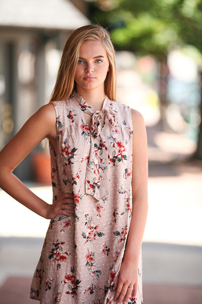 Blu pepper blush floral spring dress