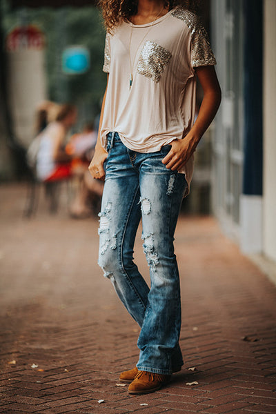 acid wash distressed bootcut jeans