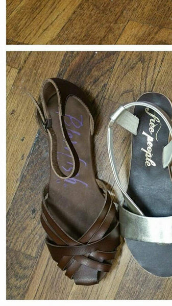 Blowfish fritzi whiskey brown leather sandals spring line