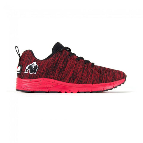 Brooklyn Knitted Sneakers - Red and Black - Gorilla Wear South Africa