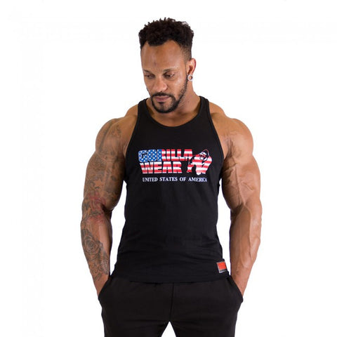 USA Tank Top - Black - Gorilla Wear SA Gorilla Wear SA - Gorilla Wear South Africa
