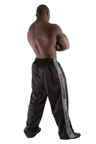 Track Pants - Black and Asphalt - Gorilla Wear SA Gorilla Wear SA - Gorilla Wear South Africa