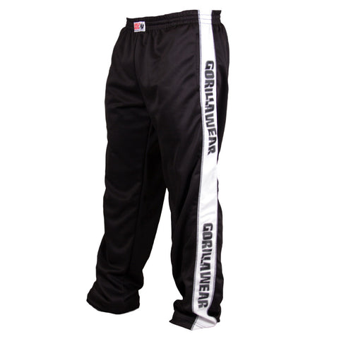 Track Pants - Black and White - Gorilla Wear South Africa