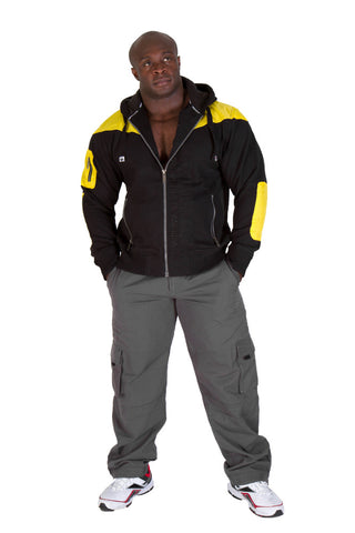 Disturbed Jacket - Black and Yellow - Gorilla Wear SA Gorilla Wear SA - Gorilla Wear South Africa