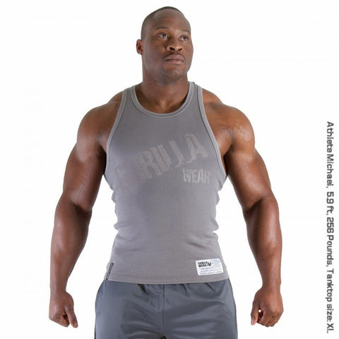 Stamina Rib Tank Top - Grey - Gorilla Wear SA Gorilla Wear SA - Gorilla Wear South Africa