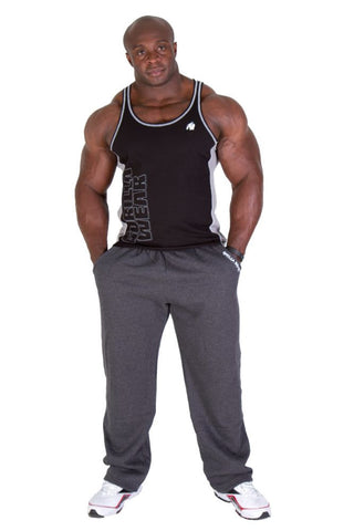 Dunellen Tank Top - Black and Gray - Gorilla Wear SA Gorilla Wear SA - Gorilla Wear South Africa