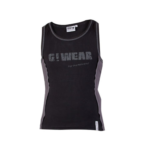 G!WEAR Rib Tank Top - Black and Grey - Gorilla Wear SA Gorilla Wear SA - Gorilla Wear South Africa