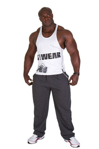 G!WEAR Stringer Tank Top - White - Gorilla Wear SA Gorilla Wear SA - Gorilla Wear South Africa