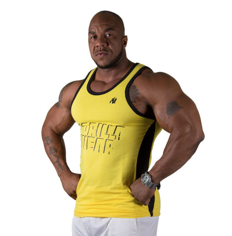 Stretch Tank Tops - Yellow - Gorilla Wear South Africa