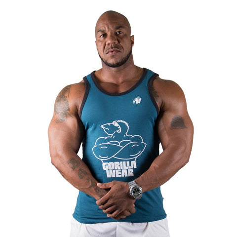 Stretch Tank Top - Navy - Gorilla Wear SA Gorilla Wear SA - Gorilla Wear South Africa