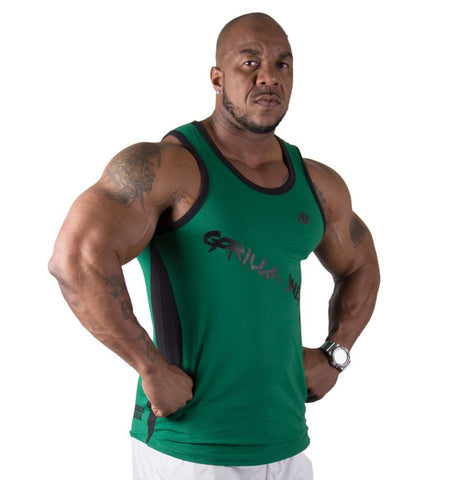 Stretch Tank Tops - Green - Gorilla Wear South Africa