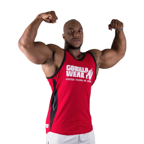 Stretch Tank Top - Tango Red - Gorilla Wear SA Gorilla Wear SA - Gorilla Wear South Africa