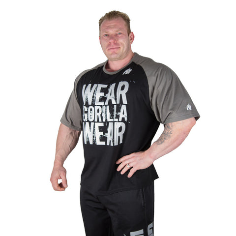 Colorado Oversized T-shirt -  Black and Grey - Logo Wear Gorilla Wear -Gorilla Wear South Africa - Dennis Wolf