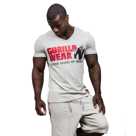 Utah V-Neck T-Shirt - Gray - Gorilla Wear South Africa