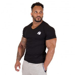 Essential V-Neck T-Shirt - Black - Gorilla Wear South Africa