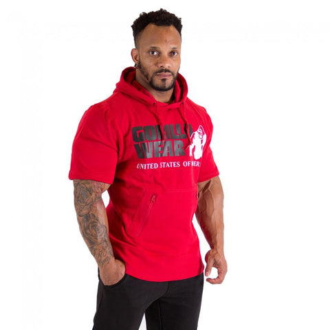 Boston Short Sleeve Hoodie - Red - Gorilla Wear SA Gorilla Wear SA - Gorilla Wear South Africa
